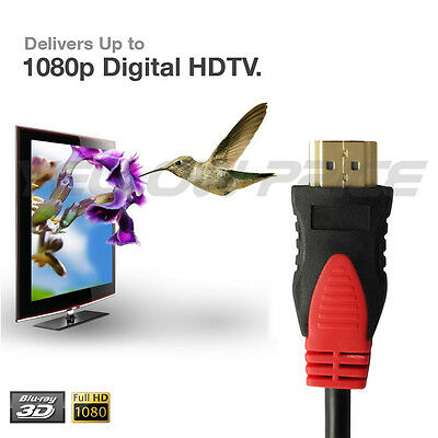 3ft 6ft 10ft 15ft 25ft 30ft High Speed HDMI Cable w/Ferrite Cores v1.4 3D 1080P