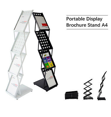 New A4 Portable Brochure Stand Brochure Holder Catalogue Flyer Acrylic Holders