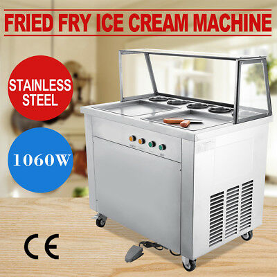 Thai Fried IceCream Machine with Double Pans&Ice Cream Roll Maker [Local Pickup]