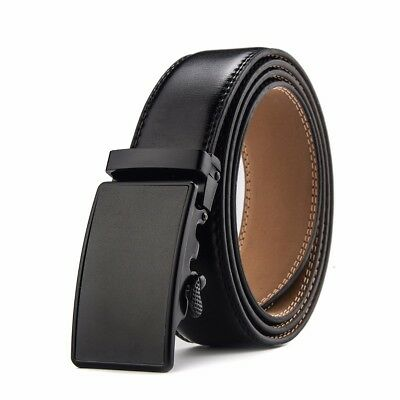 Men's Ratchet Dress Genuine Leather Belt with Automatic Buckle Casual Jeans Gift