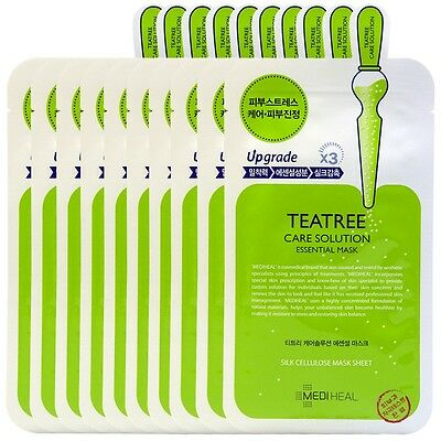 MEDIHEAL Teatree Care Solution Essential Ex MaskSheet Pack Korea Cosmetics 10pcs