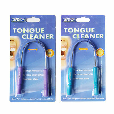 2Pcs Tongue Cleaner Brush Scraper Oral Dental Care Clean Away Bad Breath