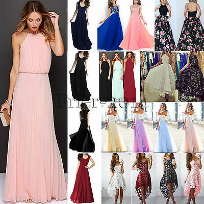 Women Ball Gown Long Maxi Dress Evening Party Cocktail Bridesmaid Wedding Formal