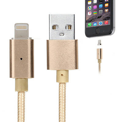 Magnetic Weaving for Apple Iphone 5/5S/6/6S/7 Data Cable (gold) Charger