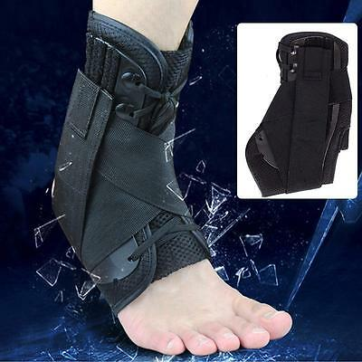 Medical Lace Up Ankle Brace Support Stabilizer Ankle Injury Rehab Sport Protect