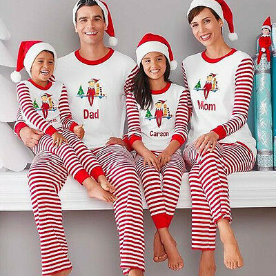 Christmas Family Kids Adult Pajamas Set Deer Sleepwear Nightwear Outfit