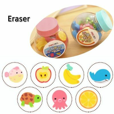 New 20pcs Mini Cute Cartoon Number Rubber Pencil Eraser For Children Stationery