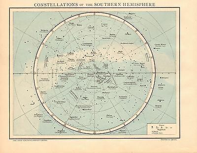 1893 Antique Map - Constellations Of The Southern Hemisphere