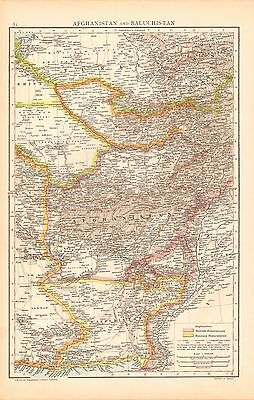 1893 Antique Map - Afghanistan And Baluchistan