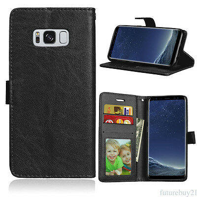 For Samsung S7 S6 Edge S8 Luxury PU Leather Case Stand Flip Protect Phone Cover