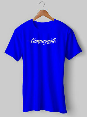 Campagnolo T Shirt Cycling Vintage Blue Jersey Eroica bike bicycle Tshirt Tee 11