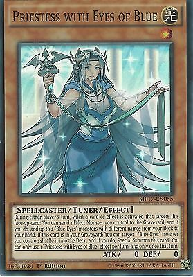 Yu-Gi-Oh Card: Priestess With Eyes Of Blue - Super Rare - Mp17-En055 1St Edition