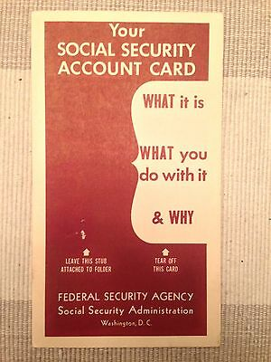 1950 SOCIAL SECURITY CARD Pamphlet. US Government.