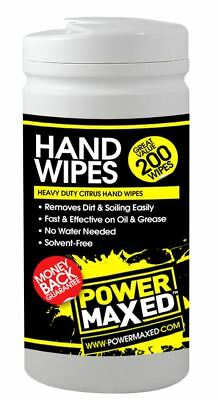 Power Maxed Heavy Duty Citrus Hand Wipes For Workshop & Home
