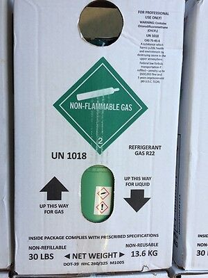 REFRIGERANT , NEW SEALED VIRGIN FREON R-22 30Lbs.  SAME DAY SHIPPING