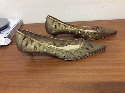 Isabella Anselmi Leather Shoes Low Heels Size 40