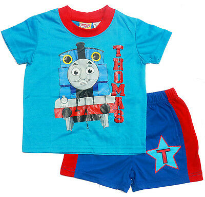 New Sz 1-5 Kids Pyjamas Summer Thomas And Friends Boys Sleepwear Pjs Nighties