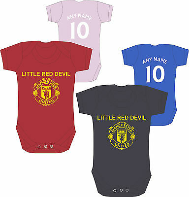 Manchester United Baby Grow, Body Suit 0-3 Months 4 Colours