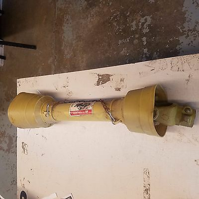 """PTO shaft for spreaders etc (weathered) 30"""" collapsed- 1-3/8"""" 6 spline both ends"""