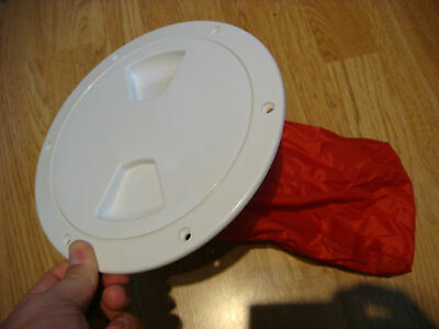 "6/"" deck plate WITH storage BAG white Twist turn Brand NEW Hatch w// compartment"