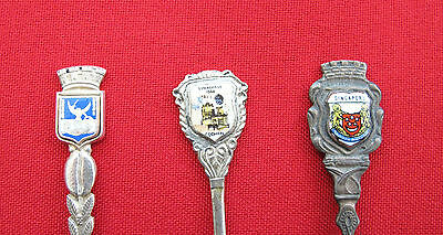 Set of 3 Collectible Sterling Silver Spoons (#207)