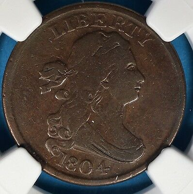 1804 Plain 4, No Stems Bust Half Cent NGC VF20BN- Very Nice looking Example