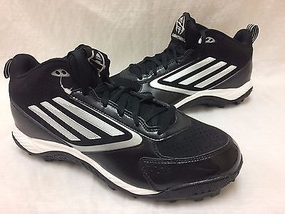 designer fashion dbba3 63b01 NEW Adidas Mens Lightning Md Mid Molded Football Cleats BlackWhitePlatnum  K63
