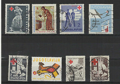 Yougoslavie 1950-60 Croix-Rouge 8 timbres / T2066