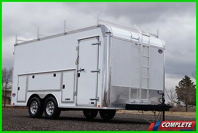 TOOL ACCESS 8.5 X 16 Enclosed Cargo Contractor Trailer: 10,400# GVW, Screwless
