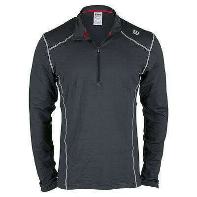 Wilson nVision Zip Long Sleeve - Coal NWT