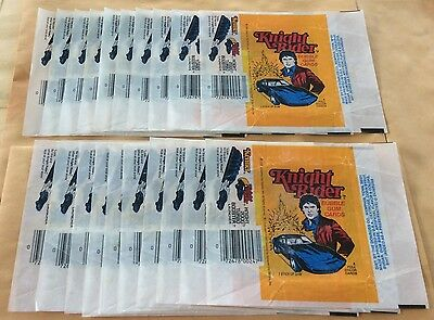 1983 Donruss Knight Rider Trading Cards Lot Of 20 Wax Pack Wrappers