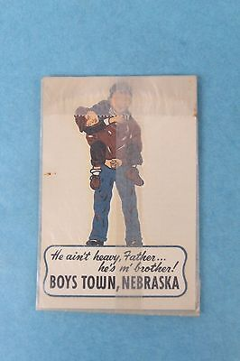 Vtg 1950 Boys Town, Nebraska Luggage/window Travel Sticker Water Decal Unused
