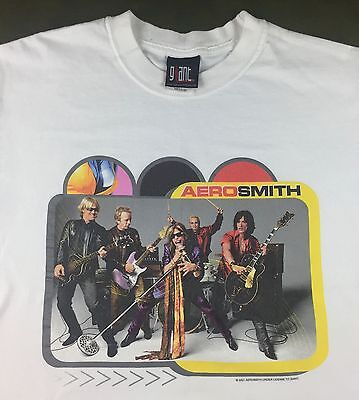 Mens New M 2001 Aerosmith Rock Band Concert Tour Steven Tyler Graphic T-Shirt