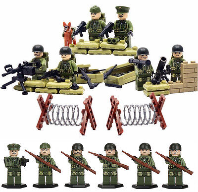 WWII American Toy Soldiers - Compatible with Lego - Army Military Gun War