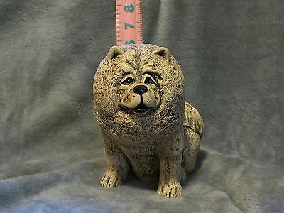 Chow Chow Plaster Dog Statue Hand Cast And Painted By T.c. Schoch