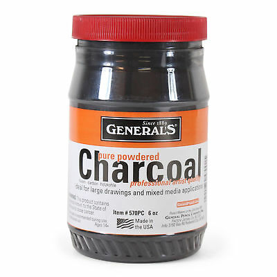 General's Pure Powdered Charcoal 6 oz (170gms)