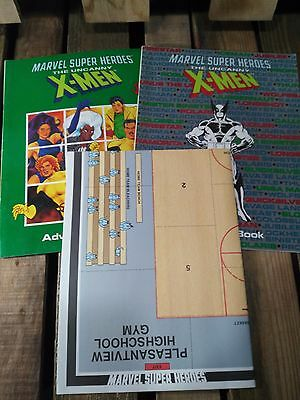 MARVEL SUPER HEROES: THE UNCANNY X-MEN CAMPAIGN/ADVENTURE and MAP Books