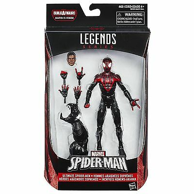 "Marvel Legends - Ultimate Spiderman - MILES MORALES 6"" Action Figure - BAF Venom"