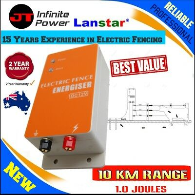 Reliable Heavy Duty 10km 1.0 J MAINS Powered Electric  Fence ENERGISER Charger