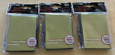Ultra Pro Metallic Gold Stock #84469 Deck Protector Sleeves Lot Of 3 Packages