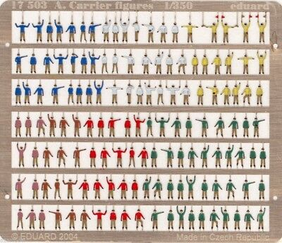 Eduard 1//350 Aircraft Carrier Figures Pre-painted in colour # 17503