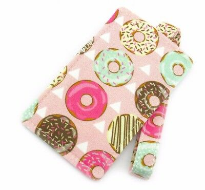 Pink Donut Fabric Travel Luggage Tag - Bag Tag - Travel Accessories