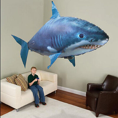 Hot Air Swimmer RC Flying Inflatable Fish Shark Blimp Balloon Remote Control DIY