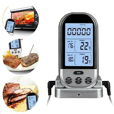 New Wireless Remote Digital Food Cooking Meat BBQ Grill Oven Smoker Thermometer