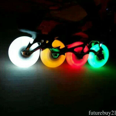 76mm LED Inline Sliding Flash PU Roller Skate Wheels Various colors available
