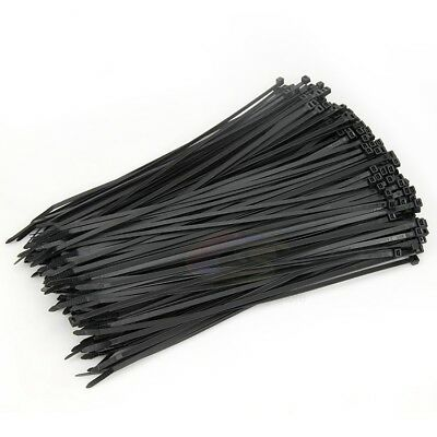 250/500/1000 x Bulk Cable Ties Zip Ties Black Nylon UV Stabilised 4.8mm x 300mm