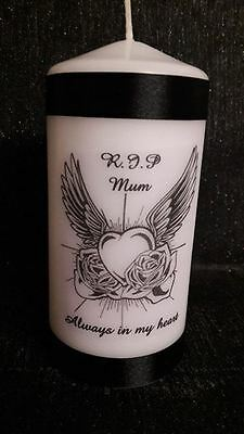 personalised memorial  candle