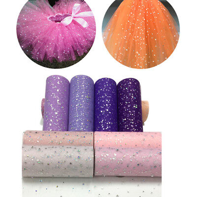 Glitter Sequin Tulle Roll 25 yards 15cm Spool Wedding Decoration Laser DIY Craft