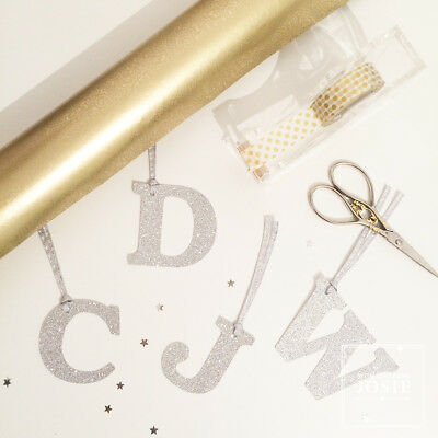 Gift Tags, Glitter Letter Gift Tags, Personalised Gift Wrap