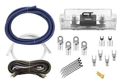 CT Sounds 0GA AWG 0 Gauge Pro Amp kit Fused Blue & White Wire Wiring Kit